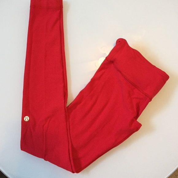 Red Lululemon pants Red Lululemon pants. Cotton. Size 4. Used condition. lululemon athletica Pants Leggings