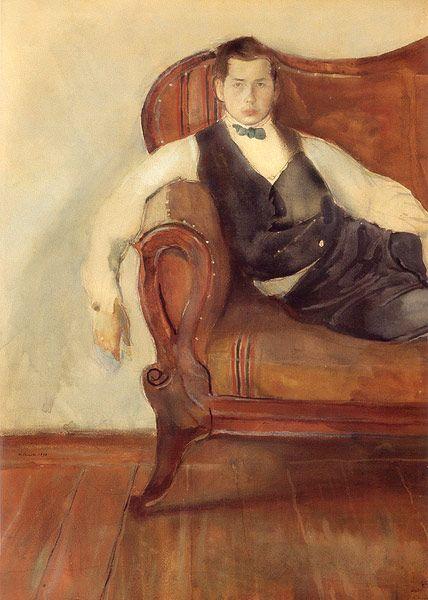 Konstantin Somov (1869-1939), Self-Portrait, 1898