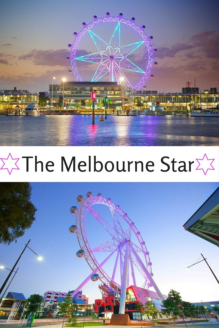 The Melbourne Star is over 120 meters high with a 360 degree view. The Star is 1 of 4 giant observation wheels in the world