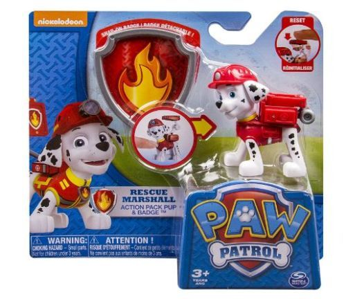 Paw-Patrol-Action-Figure-Pup-amp-Badge-Figure-Transforming-Marshall-EMT-Back-Pack