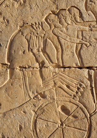'Battle of Kadesh at Abydos.'    The exterior of the northern wall of the Ramses II Temple at Abydos