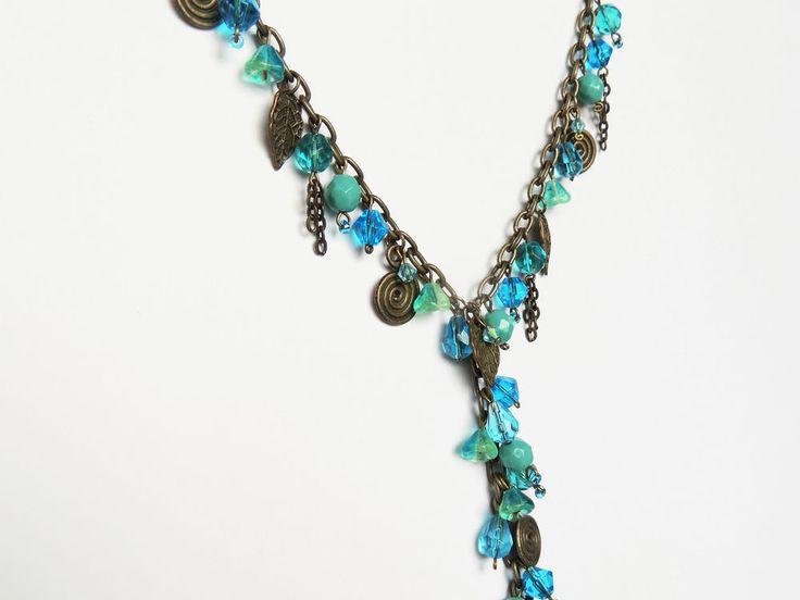 Aqua Dreams Necklace - By Cath's Craft Creations