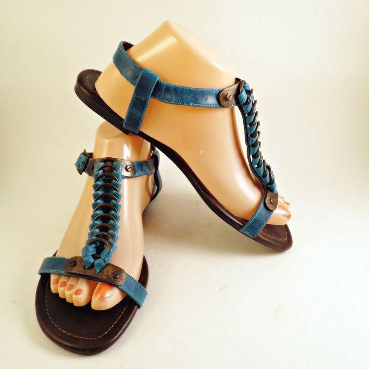 Colin Stuart Turquoise Womens Sz 9 Sandals Buckle Chain Metal Ankle Straps   Clothing, Shoes & Accessories, Women's Shoes, Sandals & Flip Flops   eBay!