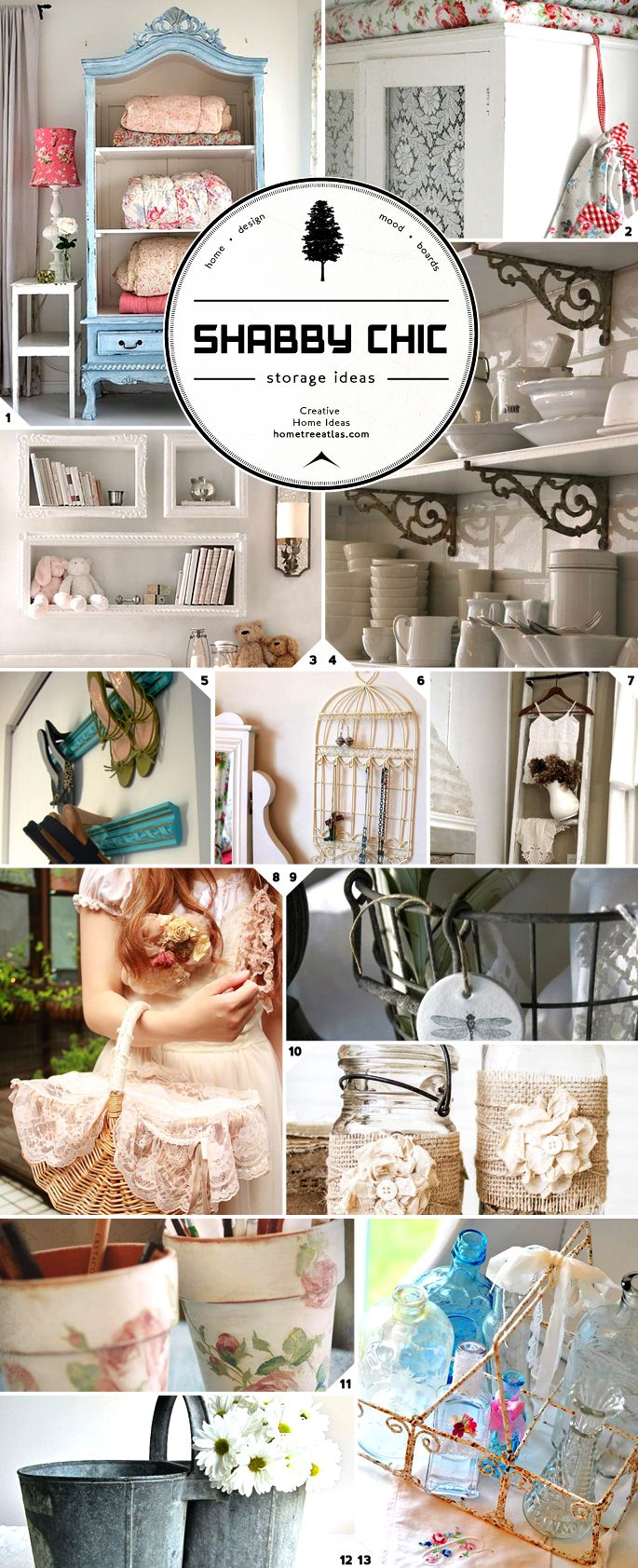 Organizing in Style: Shabby Chic Storage Ideas