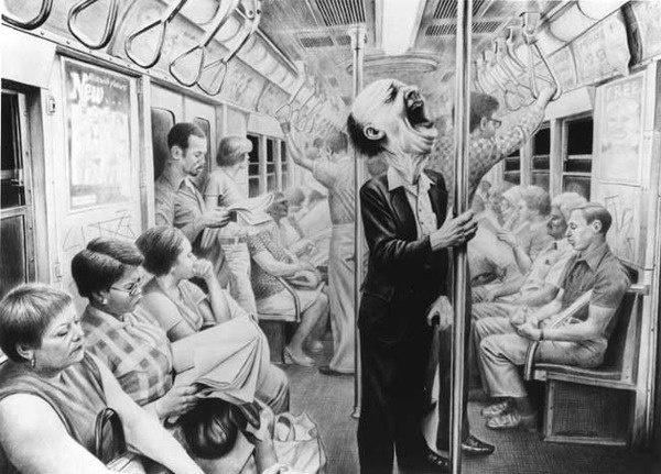 Крик в метро