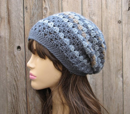Crochet Hat - Slouchy Hat, Crochet Pattern PDF,Easy, Great for Beginners, Pattern No. 27.