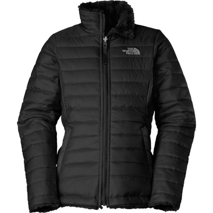 The North Face Girls' Reversible Mossbud Swirl Insulated Jacket, Size: Medium, Black
