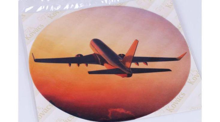 Repülőgép naplementében tortaostya - Süss Velem.com