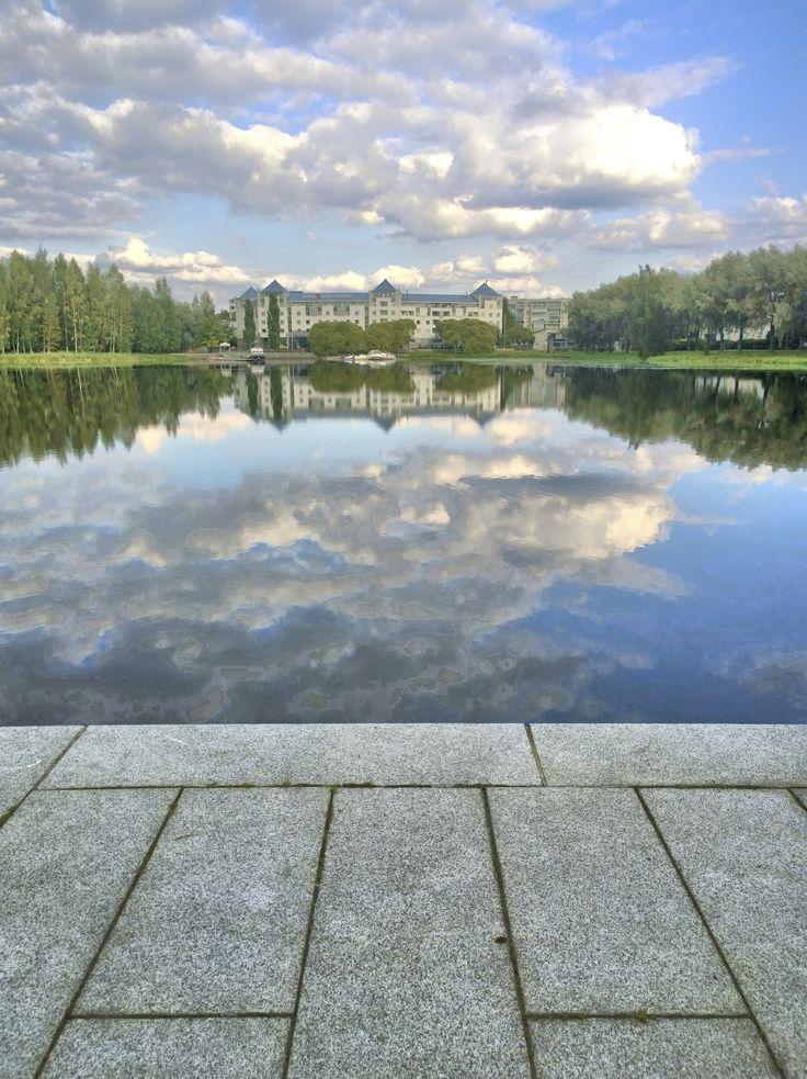 The reflection of Original Sokos Hotel Vaakuna Hämeenlinna