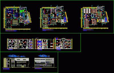 Plan d'une collège de Polytechnique en dwg