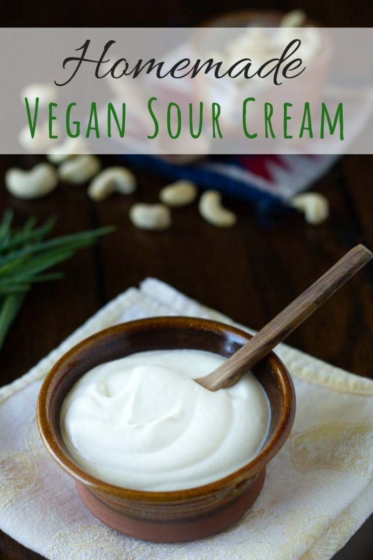 Vegan Sour Cream Recipe The Best Dairy Free Sour Cream Substitute Recipe Sour Cream Recipes Vegan Sour Cream Cashew Sour Cream