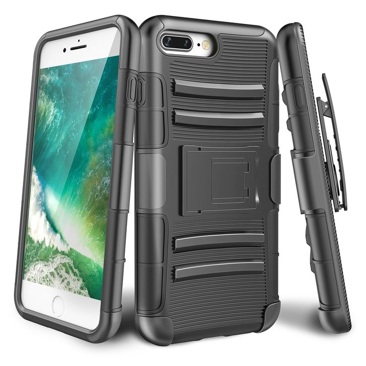 "iPhone 7 Plus Case,TILL [Knight Armor] Heavy Duty Rugged Holster Resilient Armor Case [Belt Swivel Clip][Kickstand] Combo Cover Shell For Apple iPhone 7 Plus 5.5"" All Carriers [Black]. iPhone 7 Plus Case With Holster, Till Defender Combo Tank Clip Belt Case ,Perfectly Fit iPhone 7 Plus / iPohne 6 / iPhone 6S. iPhone 7 Plus Cover, Locking Rotatable Belt Clip, rotates 180 degrees to offer easy carrying convenience .Perfectly Steadily clamp on your bag ,pocket and bags. iPhone 7 Plus Phone…"