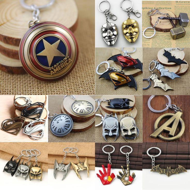 Charming The Avengers Marvel Captain America Shield Metal Keyring Keychain Hot  | eBay