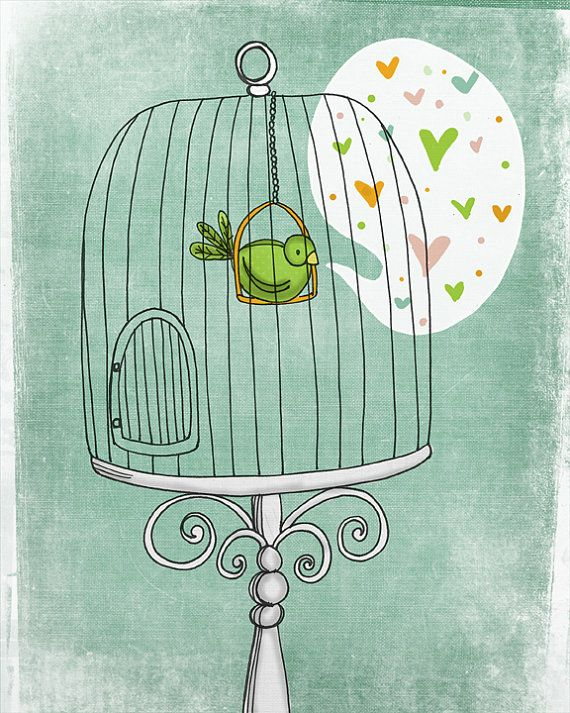 Caged Love by vol25 on Etsy, $24.00- I love every single thing about this!