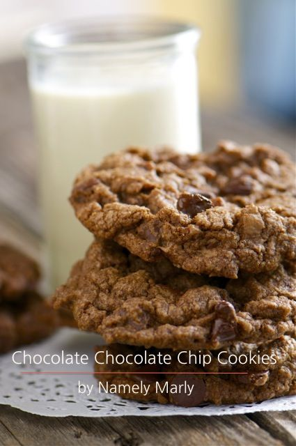 chocolate chocolate chip cookies {vegan} | namely marly