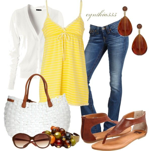 Summer OutfitWeekend Outfit, Casual Outfit, Summer Outfit, Style, Weekend Wear, White Shirts, Fashionista Trends, Weekendoutfit, Yellow