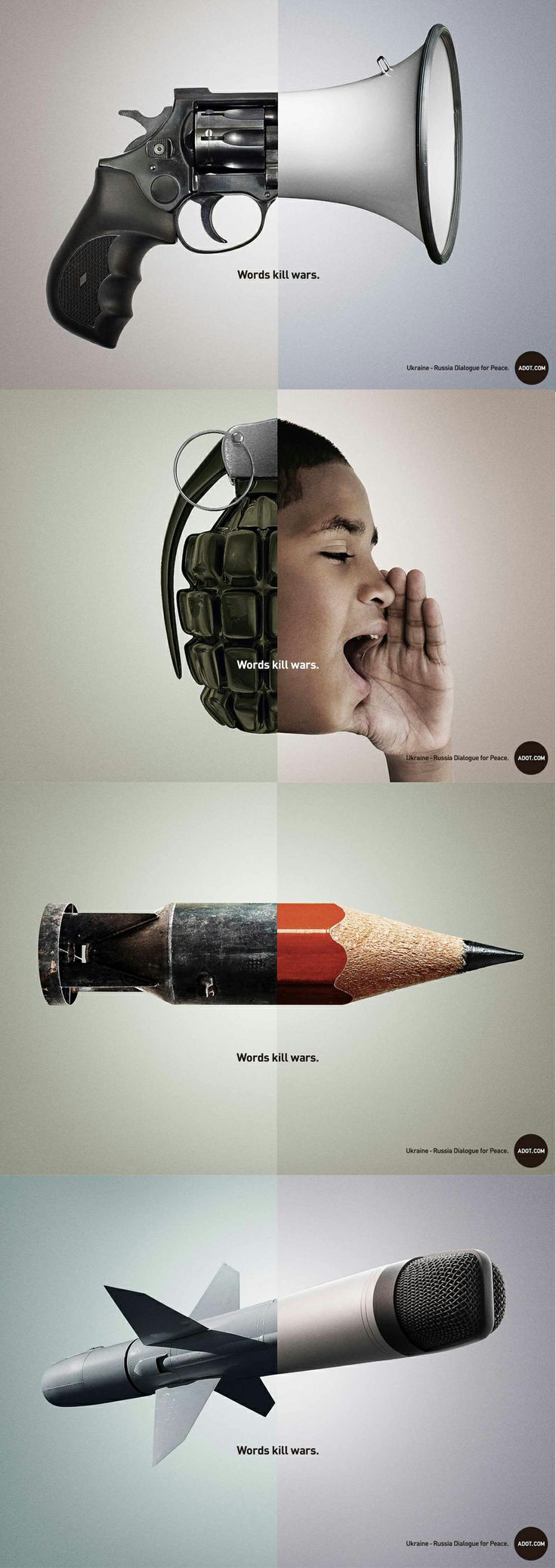 17 best images about creative advertising marketing words kill wars adot com ogilvy