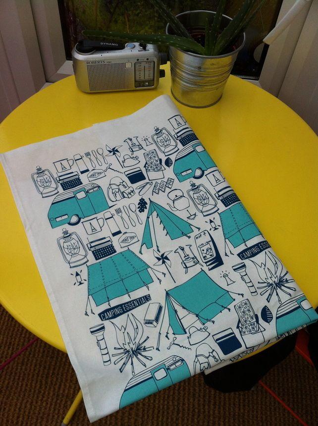 Camping Essentials Tea Towel £10.00