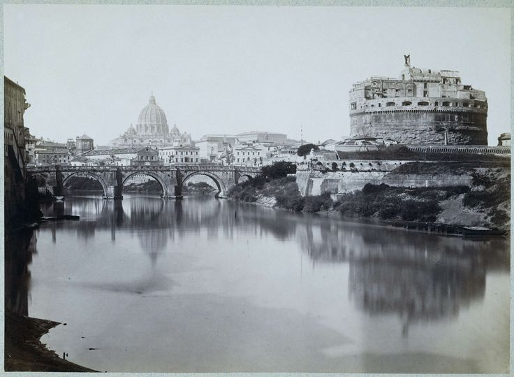 Anonymous | General view of the bridge, and castel st. Angelo with the Tiber and…