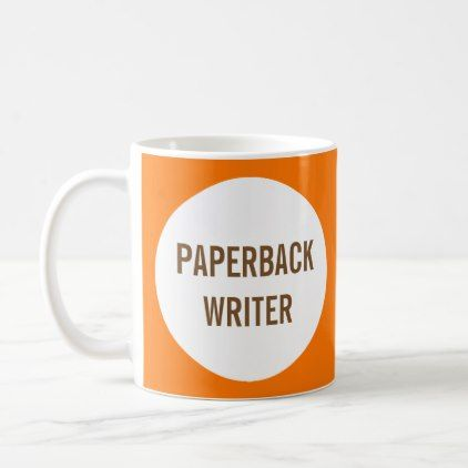 Paperback Writer Mug - home gifts ideas decor special unique custom individual customized individualized
