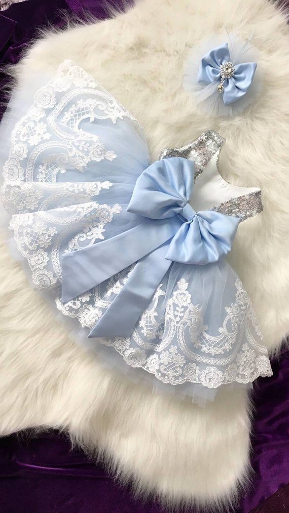 Summer Infant Baby Girls Sequin Bowknot Wedding Party Romper Princess Dress A2