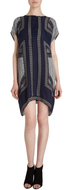 Vince Cap Sleeve Tunic Dress at Barneys.com