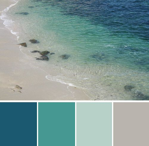 @Carmela Chavez Liberman Another good beachy color palette. But you need a pop of a bright color, like coral.