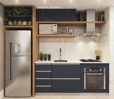 31 The Best Small Apartment Kitchen Design Ideas - When doing a small kitchen design for an apartment, either a corridor kitchen design or a line layout design will be best to optimize the workflow. Kitchen Room Design, Kitchen Sets, Modern Kitchen Design, Home Decor Kitchen, Interior Design Kitchen, Kitchen Furniture, Home Kitchens, Modern Kitchens, Küchen Design
