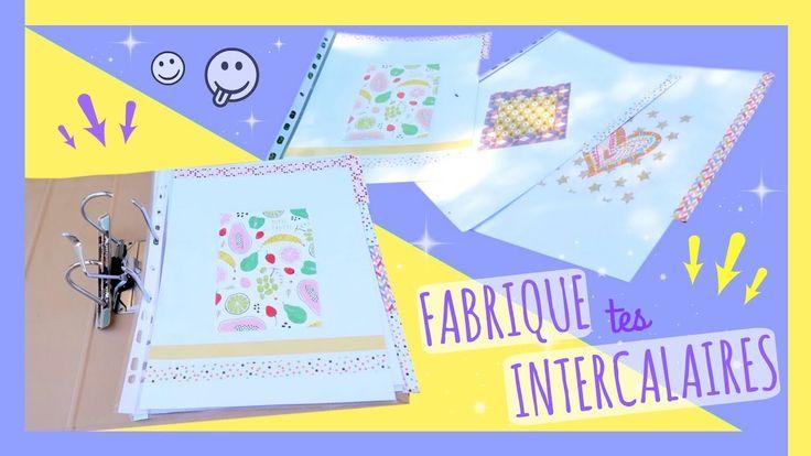 BACK TO SCHOOL 2017 | Fabriquer des Intercalaires (DIY Français) - Claire