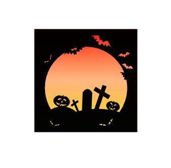 Halloween frame print and cut design Digital download by MySVGHUT