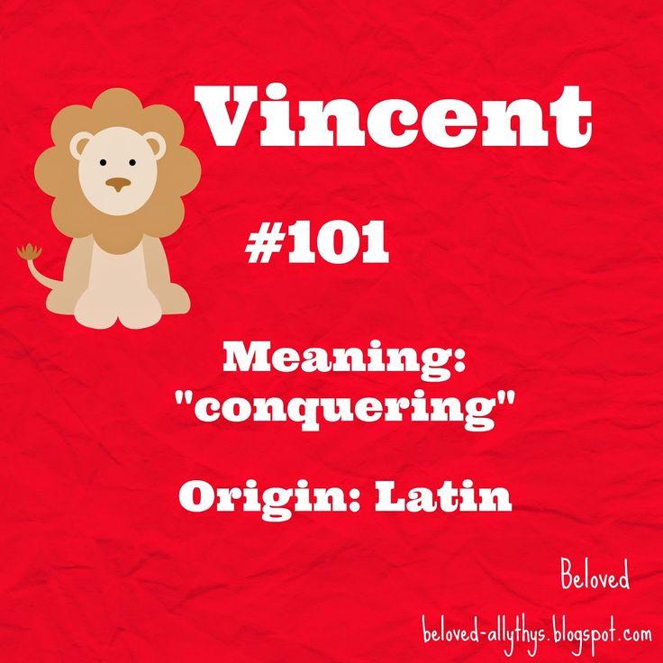 V for Vincent!  Most Popular Boys Names By the Letter (2013)