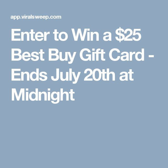 Enter to Win a $25 Best Buy Gift Card - Ends July 20th at Midnight