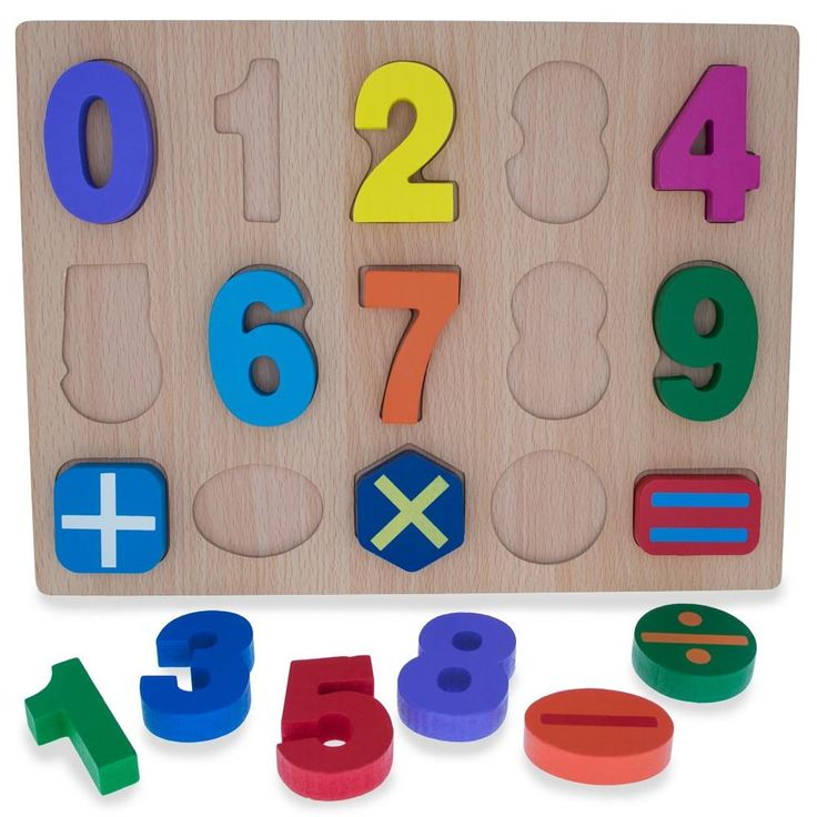Numbers & Counting Learning Wooden Blocks Puzzle