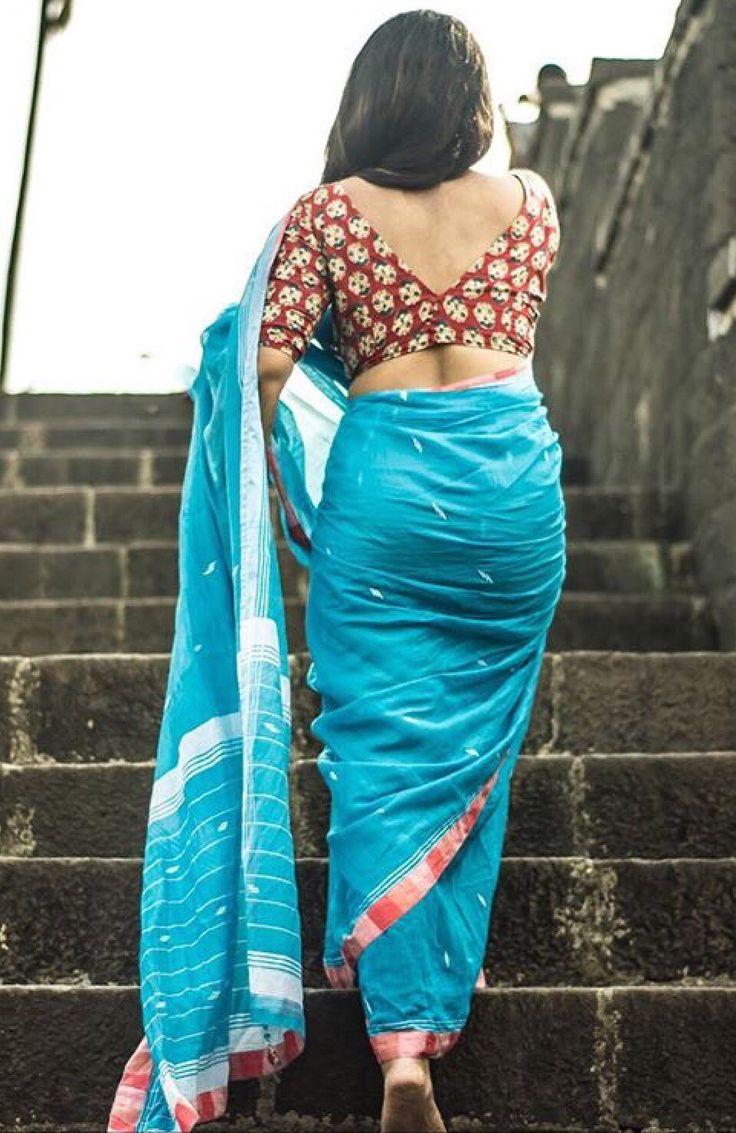 Indian saree blouse design.
