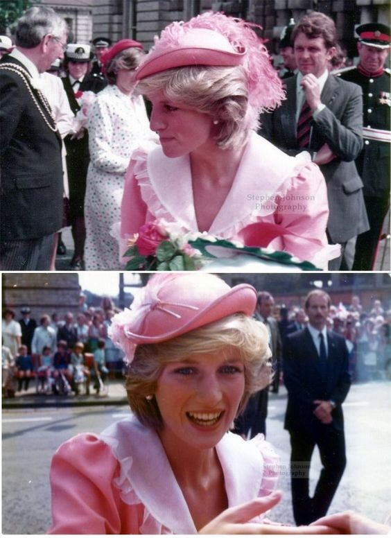 July 26, 1983: Princess Diana on a walkabout during the opening of the District General Hospital, Grimsby Town.