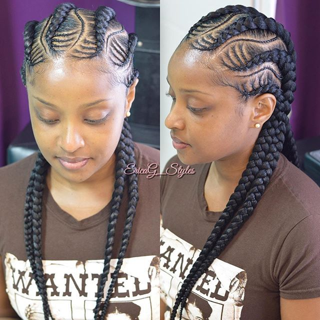 Click link in bio to book!!  #CreativeJumbos   #JumboBraids #Braids #ProtectiveStyles #Hair #HairGrowth #Neat #NaturalHair #Natural #Cornrows #FrenchBraids #Cute #CuteStyles #Chicago #ChicagoHair #ChicagoStylists #TeamNatural #iLoveWhatIDo #EricaG_Styles #CosLife #NoDaysOff  StyleSeat.com/EricaG_Styles  @protectivestyles @stylistshopconnect