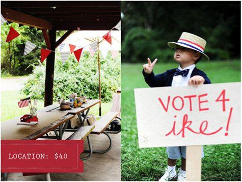 Vote 4 Ike birthday party.
