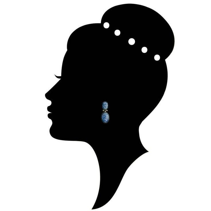 De Luxe Blauwe oorbellen met ovalen
