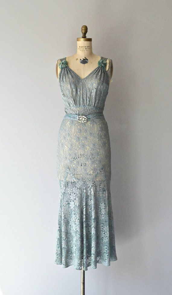 Fontainebleau gown • vintage 1930s dress • lace 30s gown