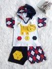 Baju jumper bayi laki-laki lucu dengan tutup kepala utk usia 0 bln sd 12 bln