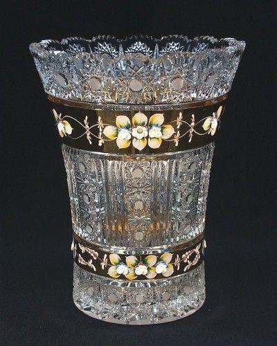 Crystal Vase - Tom Crystal Bohemia, Czech