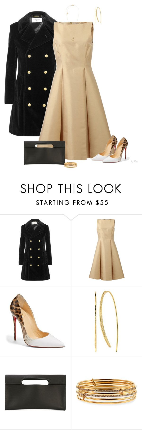 """Leopard"" by ksims-1 ❤ liked on Polyvore featuring Yves Saint Laurent, Michael Kors, Christian Louboutin, Gorjana, Isaac Reina and Kate Spade"
