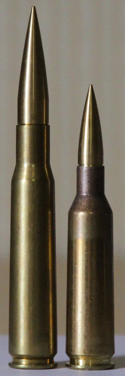 .416 Barrett (right) vs. 50 BMG (left)