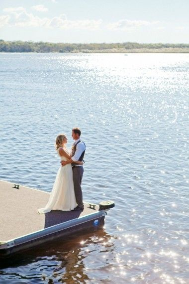 Noosa river wedding at Ricky's Bar and Restaurant jetty.