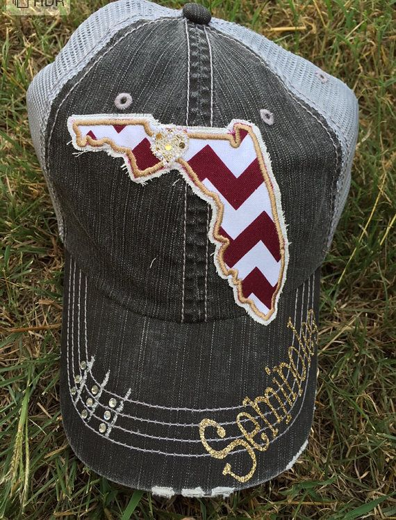 Florida State Seminoles Baseball Bling Ladies Womens Trucker Hat FSU By Chasing Elly