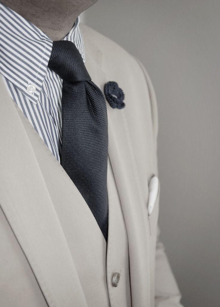 DappertasticDapper Gentleman, Southern Style, Fashion Style, White Shirts, Dresses Shirts, Stripes Shirts, Men Fashion, Grey, Black