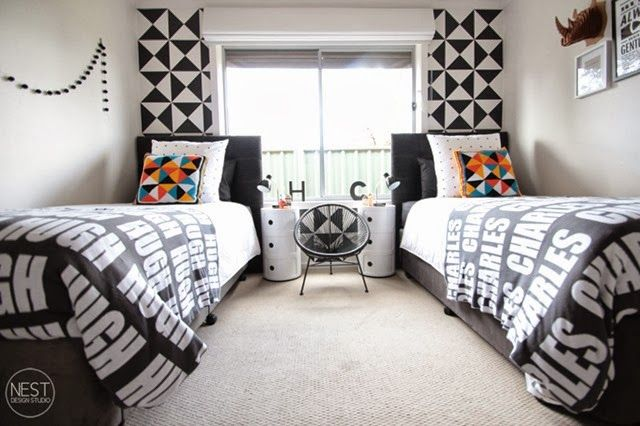 Shared Boys Geometrical Bedroom: 17 Best Ideas About Shared Boys Rooms On Pinterest