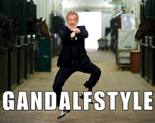 LOFTR: Like A Boss, Gangnam Style, Laughing, Gandalf Style, The Hobbit, Funny Stuff, Music Videos, Funny Summer, Gandalfstyle
