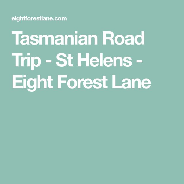Tasmanian Road Trip - St Helens - Eight Forest Lane