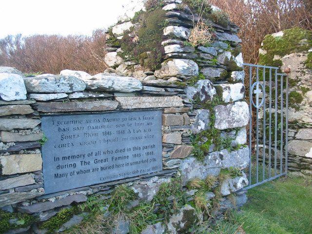Famine memorial at Kilmoe graveyard